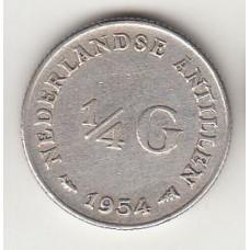 1/4 гульдена, Нидерландские Антильские острова, 1954, albonumismatico.su