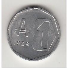 1 аустраль, Аргентина, 1989