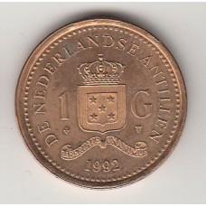 1 гульден, Нидерландские Антильские острова, 1992, albonumismatico.su
