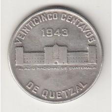 1 кетсаль, Гватемала, 1943albonumismatico.su