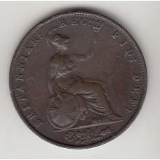 монета 1 пенни, Великобритания, 1854год , стоимость , цена