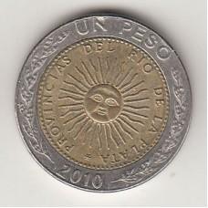монета 1 песо, Аргентина, 2010год, стоимость , цена