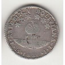 1 соль, Боливия. 1830, albonumismatico.su