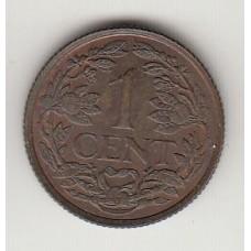 монета 1 цент, Нидерландские Антильские острова, 1963год, стоимость , цена