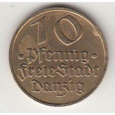 монета 10 пфеннигов, Данциг, 1932год , стоимость , цена