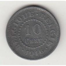 монета 10 сантимов, Бельгия, 1916год , стоимость , цена