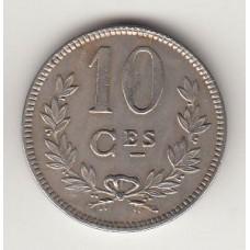 монета 10 сантимов, Люксембург, 1924год , стоимость , цена