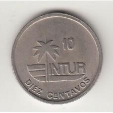 10 сентаво, Куба (ИНТУР), 1989