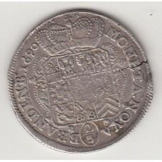 монета 2/3 талера, Бранденбург, 1690 год , стоимость , цена