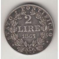 2 лиры, Ватикан (Папское государство), 1867