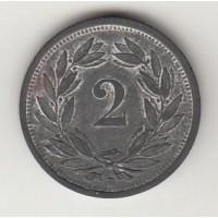 2 сантима, Швейцария, 1945