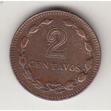 монета 2 сентаво, Аргентина, 1945год, стоимость , цена