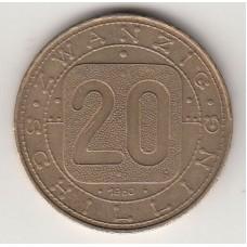 монета 20 шиллингов, Австрия, 1980год , стоимость , цена