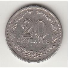 монета 20 сентаво, Аргентина, 1940год, стоимость , цена