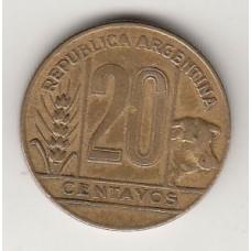 монета 20 сентаво, Аргентина, 1949год, стоимость , цена