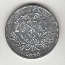 20 сентаво, Боливия, 1942, albonumismatico.su