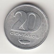 монета 20 сентаво, Кабо-Верде,1977год , стоимость , цена