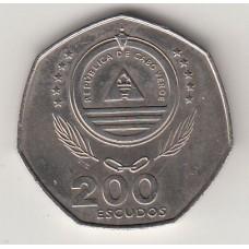монета 200 эскудо, Кабо-Верде, 1995год , стоимость , цена