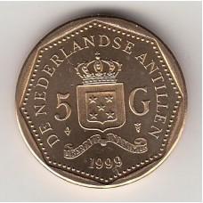 5 гульденов, Нидерландские Антильские острова, 1999, albonumismatico.su