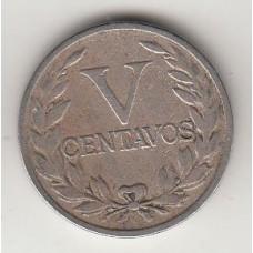 монета 5 сентаво, Колумбия, 1938год, стоимость , цена