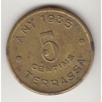 5 сентимо, кооперативный токен, Испания, 1935