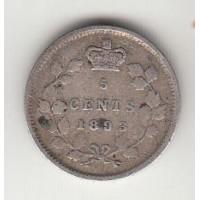 5 центов, Канада, 1893