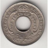 1/10 пенни, Британская Западная Африка, 1934