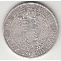 1/2 кроны, Великобритания, 1901