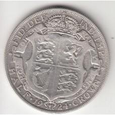 1/2 кроны, Великобритания, 1924