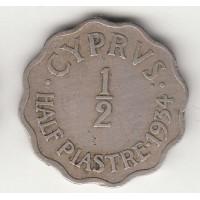 1/2 пиастра, Кипр, 1934