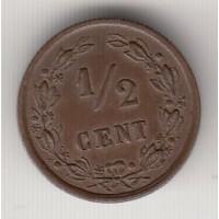 1/2 цента, Нидерланды, 1901