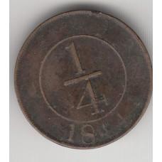 1/4 сентаво, Доминикана, 1844