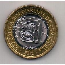 1 боливар, Венесуэла, 2012
