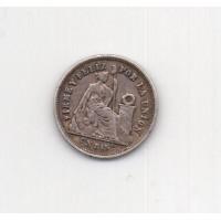 1 динеро, Перу, 1866