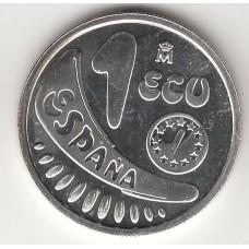 1 экю, Испания, 1989