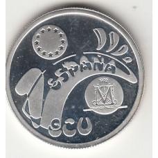 1 экю, Испания, 1992