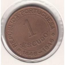 1 эскудо, Португальская Гвинея, 1952