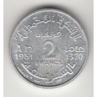 1 франк, Марокко, 1951