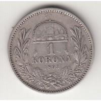 1 корона, Венгрия, 1893
