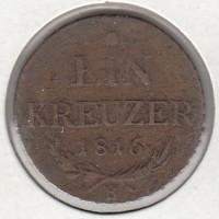 1 крейцер, Австро-Венгрия, 1816