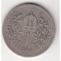 1 крона, Австро-Венгрия, 1898