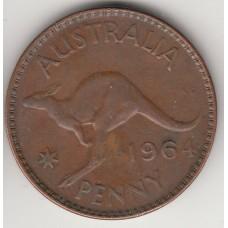 1 пенни, Австралия, 1964