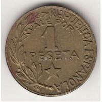 1 песета, Испания, Менорка, 1937