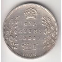 1 рупия, Британская Индия, 1906