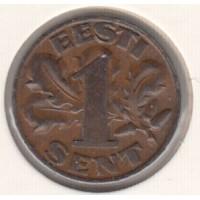 1 сент, Эстония, 1929