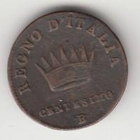 1 сентесимо, Италия, 1810