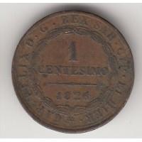 1 сентесимо, Италия-Сардиния, 1826