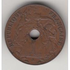 монета 1 цент, Французский Индокитай, 1930 год , стоимость , цена