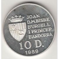 10 динеров, Андорра, 1989