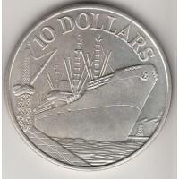 10 долларов, Сингапур, 1975